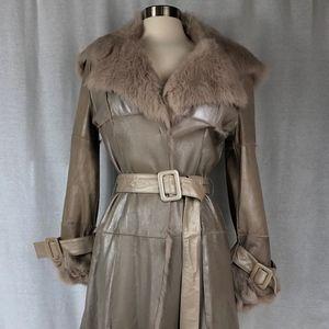 Bebe Maxi Leather Wrap Coat Size M